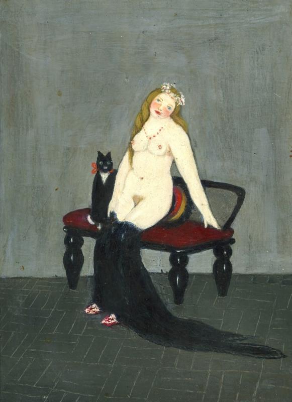 Mädchen mit Katze nach Ebert
