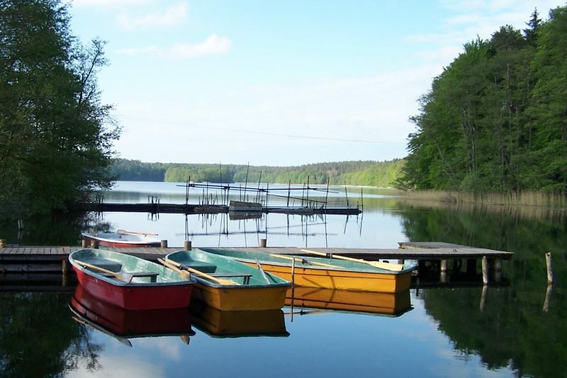 Am See ein Ruderboot für Sie bereit.....
