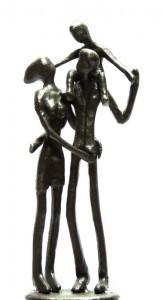 """"""" Die Kleine Familie """" Eisenguss H ca 19 cm Preis 60,-- Euro"""