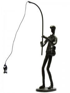 """"""" Angler """" Eisenguss H 24 cm Preis: 60,-- Euro"""