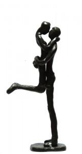 """"""" Der Kuss """" Eisenguss,brüniert H 19 cm Preis 55,--"""